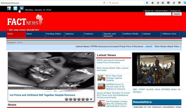 Online news portal for FactNews