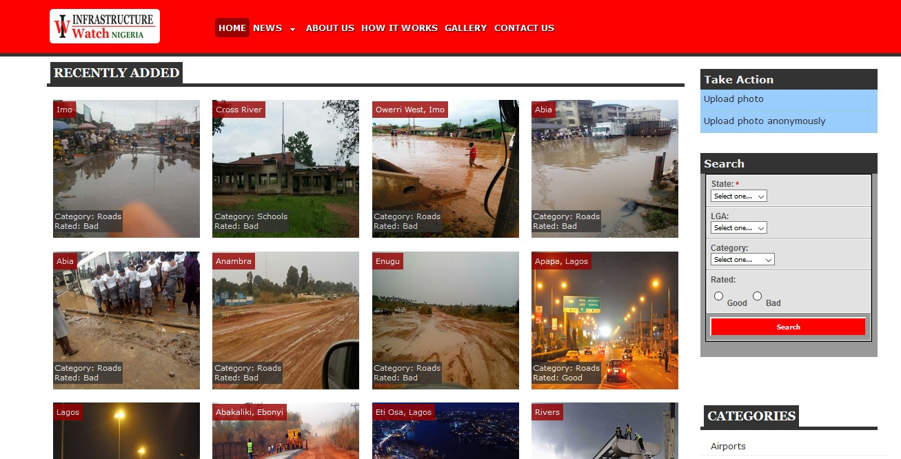 Infrastructure Watch web project